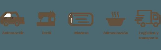 Formacion empresas sector automocion textil madera alimentacion logistica