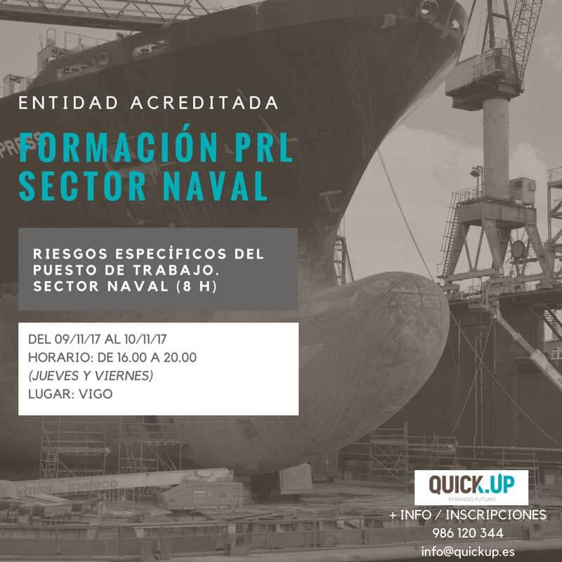Curso riesgos especificos puesto trabajo sector naval Vigo