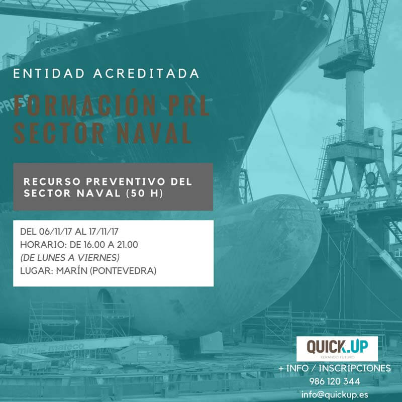 Curso recurso preventivo sector naval 50 marin